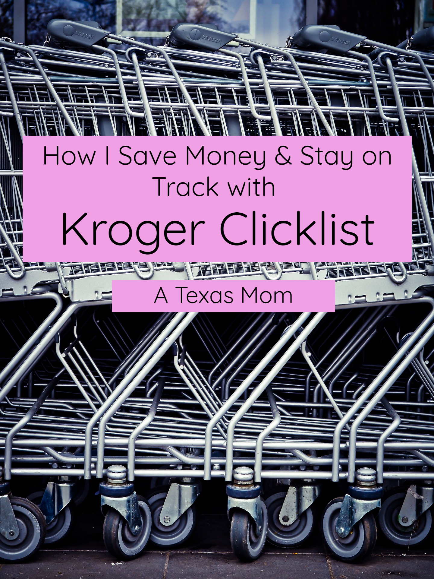 How I save money using Kroger Clicklist #ATexasMom